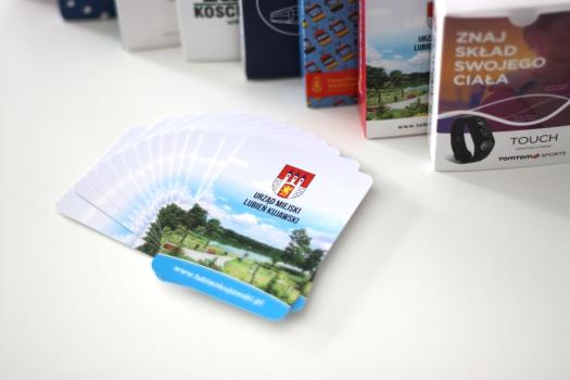 karty reklamowe z indywidualnym nadrukiem